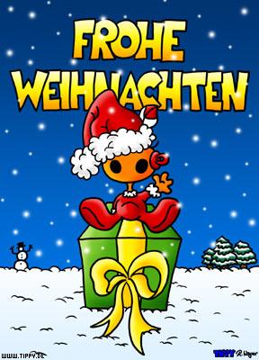 Frohe Weihnachten Kostenlose Bilder.Frohe Weihnachten Tippy Kostenlose Ecards Mit Der Neuen